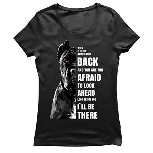lepni.me Camiseta Mujer Estaré ahí para ti Motivación Cane Corso Regalo para Amantes de los Perros (S Negro Multicolor)