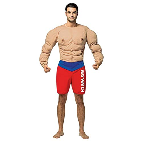 Mens New Baywatch Lifeguard Muscle Chest Costume