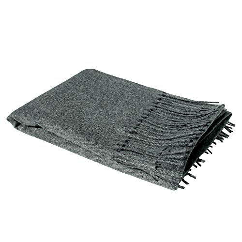 Charcoal Grey 100% Cashmere Scarf - Gift Box, Large Size, Removable Tag, Limited Availability