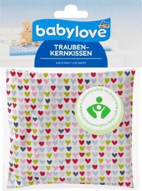 babylove Traubenkernkissen extra klein und leicht 12 cm x 12 cm