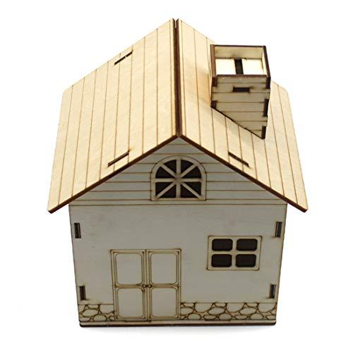 FEICHAO Holz Paintable DIY Spielzeug Schrank Geld Spardose Holz Handwerk Kleines Haus Design Sparschwein Decor Box