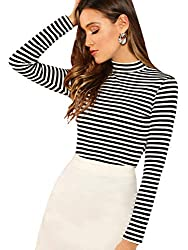 black and white striped turtleneck shirt classic look