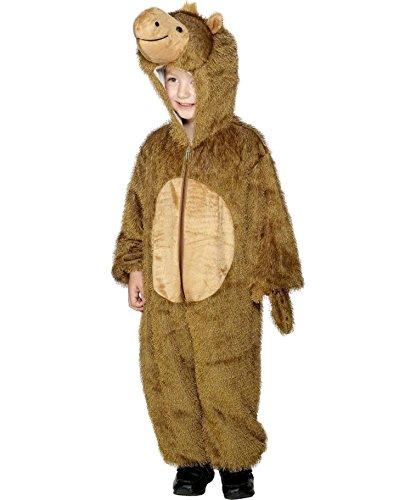 Amakando Disfraz infantil de camello para niños de 5 a 8 años, 128 a 140 cm, disfraz de animal, dromedar, disfraz de Lama Cozy Suit, barco del desierto, mono para niños