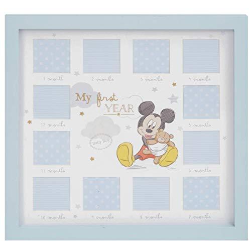 Disney Mickey Mouse Baby Boy Bilderrahmen für das erste Jahr, 12 Monate