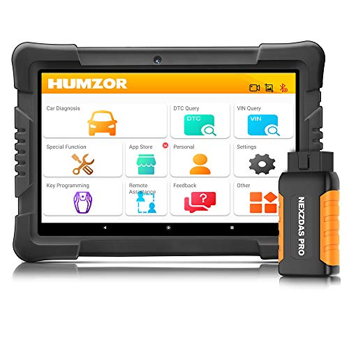 HUMZOR NexzDAS Pro Bluetooth 10inch Tablet Full System Auto Diagnostic Tool Professional OBD2 Scanner Car Code Reader with IMMO/ABS/EPB/SAS/DPF/Oil Reset