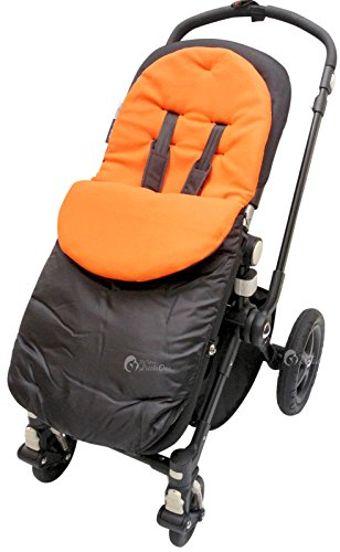 Fußsack/COSY TOES kompatibel mit Hauck Condor Malibu Viper Apollo Shopper Buggy orange