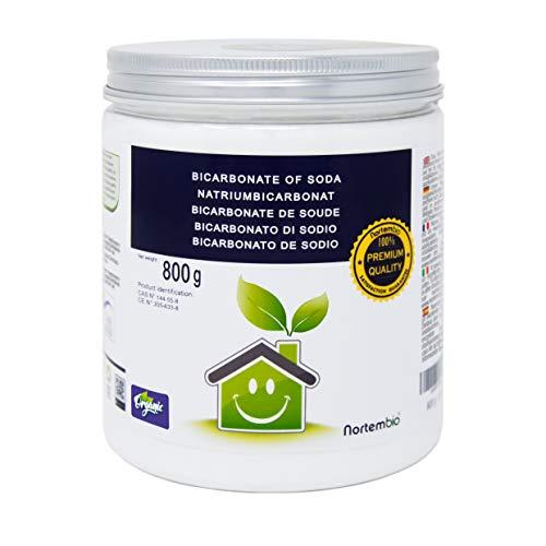NortemBio Bicarbonate de Soude 800g, Intrant de la Production Biologique, sans Aluminium, Qualité Supérieure, 100% Naturel. Développé en France.