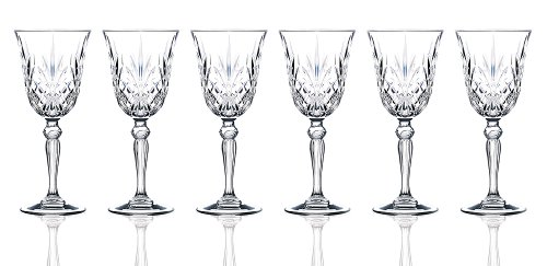 RCR Crystal Melodia Collection Wine Glass Set Crystal Glass Sherry Glass