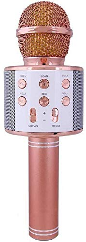 TRILOKESH Quality Wireless Bluetooth Microphone Recording Condenser with Bluetooth Speaker Audio Recording for Cellphone