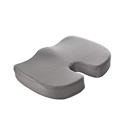 mingliang Cojín de Asiento de Espuma viscoelástica en Forma de U, Almohada Coccyx Protect Cojín de Silla de Rebote Lento Estera de Silla (46cm x 36cm) Grey-Breathable Net