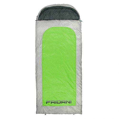 Fridani slaapzak BG 235 x 110 cm XXL dekenslaapzak groen -22 °C warm waterafstotend wasbaar