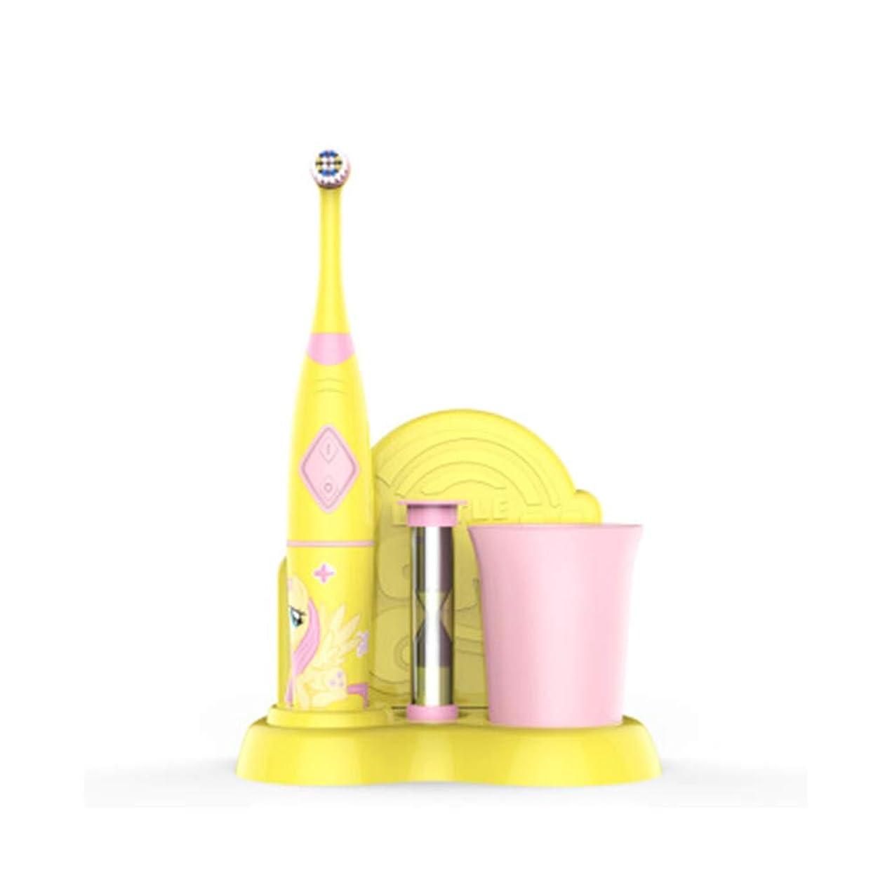 成長する思春期のマーク子供用スマート子供用電動歯ブラシ、充電式音波電動歯ブラシ、白い歯、歯ぐきのケア、交換可能なブラシヘッド