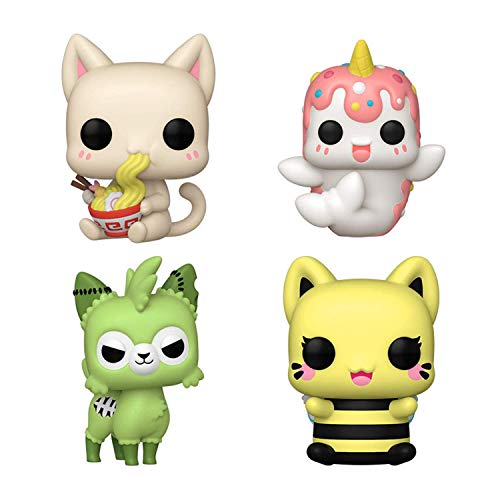 Funko Pop! Tasty Peach Set of 4: Udon Kitten, Nomwhal, Zombie Alpaca and Meowchi