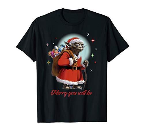 Star Wars Santa Yoda Merry You Will Be T-Shirt