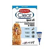 Bob Martin Clear | Spot On Flea Treatment for Medium Dogs (10-20 kg) | Kills Fleas, Ticks & Lice |...