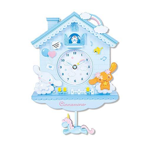 ZDTXKJ 12 Inch Cartoon Swing Kids Girls Wall Quartz Clock Home Decro for Bedroom