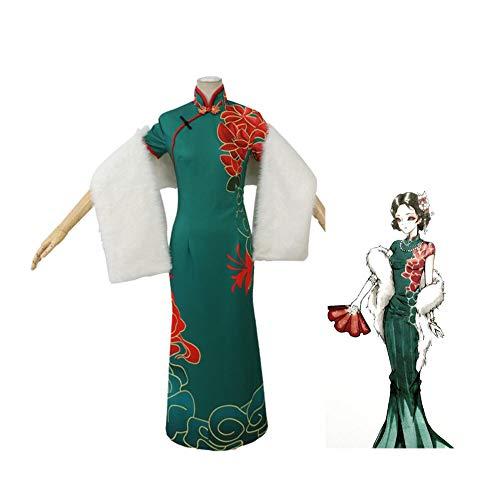 CGBF -Adultos Anime Game Identity V Michiko Cosplay Disfraces Cmics Tema Fiesta Disfraz Uniforme Japn Emperatriz Cheongsam, Verde, L