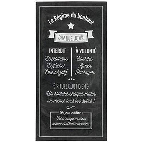 Paris Prix Stick'N Look - Sticker Relief Régime Bonheur 32x60cm Noir
