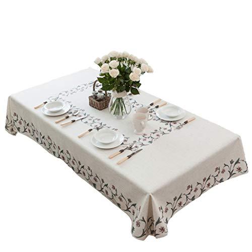 Tafelkleed van jute, Amerikaanse stijl, woonkamer, salontafel, stof, rechthoekig, tafelkleed, vierkant, Europese bedrukking