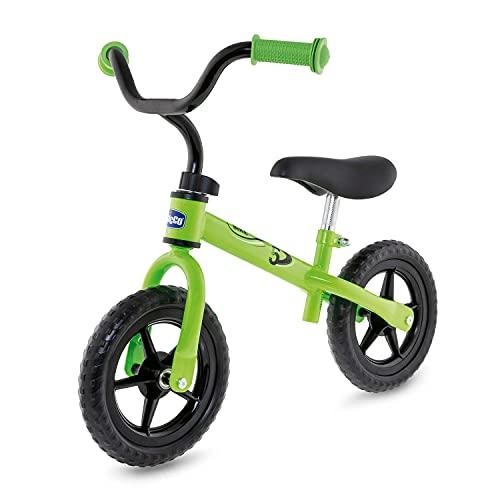 Chicco Green Rocket Bicicletta Bambini Senza Pedali 2-5 Anni, Bici Senza Pedali Balance Bike per lEquilibrio, con Manubrio e Sellino Regolabili, Max 25 Kg, Verde, Giochi Bambini 2-5 Anni