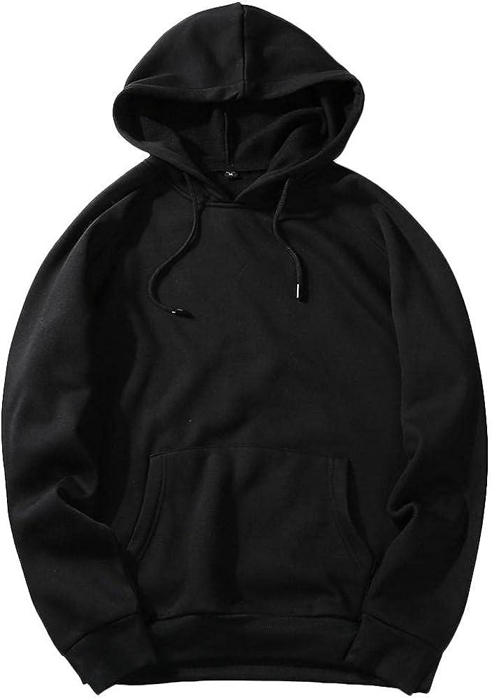 Qsctys Men's Fleece Hooded Sweatshirts Big - S Tall and Over item Fixed price for sale handling ☆ Crewneck