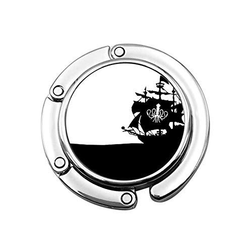 Geldbörsenhaken für Tisch Ship-Octopus Tischhaken für Geldbörsen Beutelhalter für Frauen Restaurant Stuhl Dekor Faltbarer Halter Haken