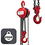 WilTec Polipasto Manual de Cadena 2000kg con Cadena 3m y Altura de...
