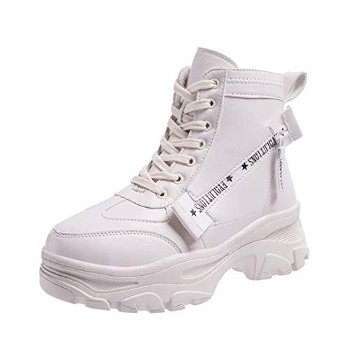 Dames Winter Sneakers Verhoogde Interne Hoge Enkellaarzen Plus Fluwelen Veterschoenen Creepers Schoenen Casual Dikke Platformschoenen