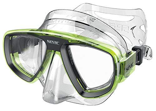 SEAC Extreme 50 Máscara de Buceo y Pesca submarina con Lentes ópticas Opcionales, Unisex Adulto, Transparente/Verde, One Size