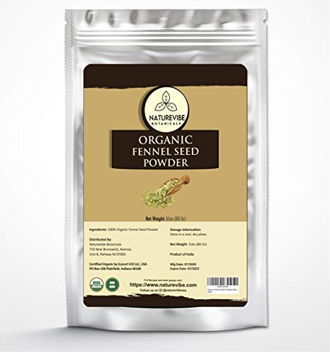 Naturevibe Botanicals Fennel Seed Ground Powder 5lb   Organic Foeniculum Vulgare   Non-GMO and Gluten Free   Indian Spice