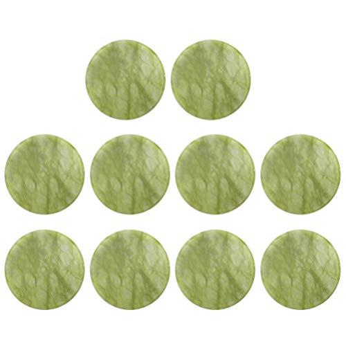 Beaupretty 10Pcs Extensions de Cils de Colle de Pierre de Jade Fournitures Palette Adhésive Support de Pierre de Colle de Cils Faux Outils de Maquillage Des Cils (Vert)