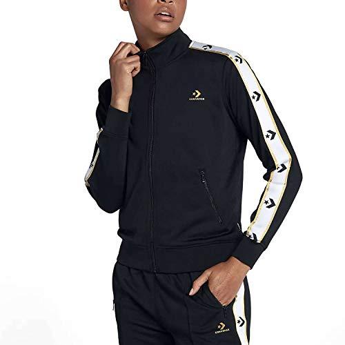 Converse Star Chevron Track Jacket Blk–Giacca, Donna, Nero (Converse Black)