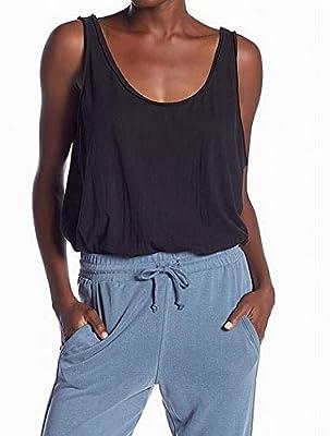 Intimately Free People Womens Sydney Lace Snap Sleeveless Bodysuit Black M
