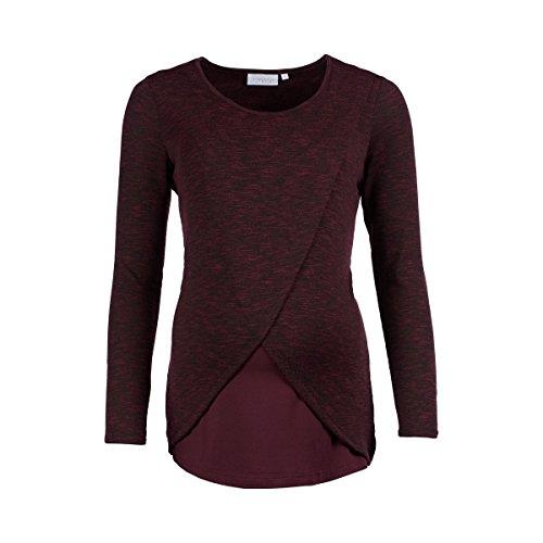2HEARTS Umstands- und Still-Shirt Cosy & Wild/schickes Oberteil für die Schwangerschaft und Stillzeit