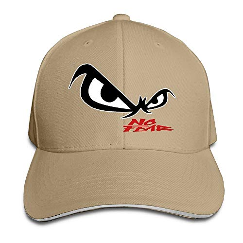 Youaini Unisex No Fear Owl's Eyes Sandwich Baseball Cap Natural