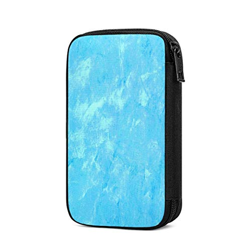 Electronics Accessories Organizer Bag Blue Turquoise Portable Digital Storage Bag for Cable Power Bank Charger Charging Cords Mouse Adapter Earphones Out-Going Business Travel Gadget Bag