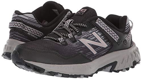 New Balance Women's 410v6 Cushioning Trail Running Shoe, Black/Magnet/Champagne Metallic, 8 Wide