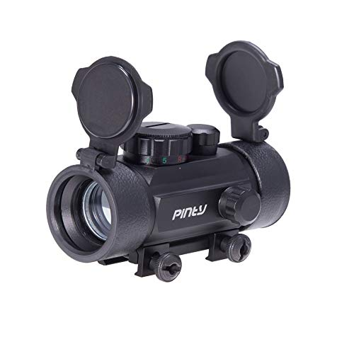 Pinty 30mm Reflex Red Green Dot Sight Scope 0.5 MOA with Flip Up Lens Cover Cap