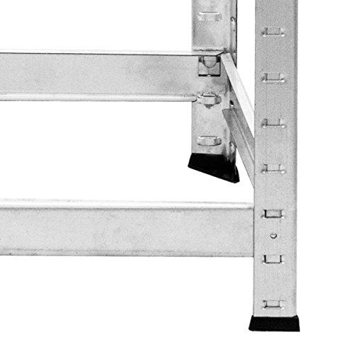 COSTWAY Reifenregal Reifenständer Werkstattregal Lagerregal Schwerlastregal Felgenregal Steckregal Reifen Regal Aufbewahrung Metall 3 Ebenen höhenverstellbar verzinkt 180x120x40cm - 9