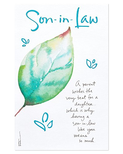 American Greetings Father's Day Card for Son in Law (Leaf)