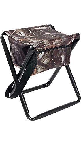 Allen Company Camo Folding Hunting Stool with Storage Pouch- Next G2 Camo - 12L x 14.5W x 17H inches, Model 2019