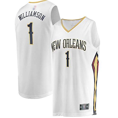 Camisetas de baloncesto al aire libre nº 1 blanco, 2019 Draft First Round Pick Fast Break Réplica Jersey de secado rápido sin mangas Chalecos uniforme