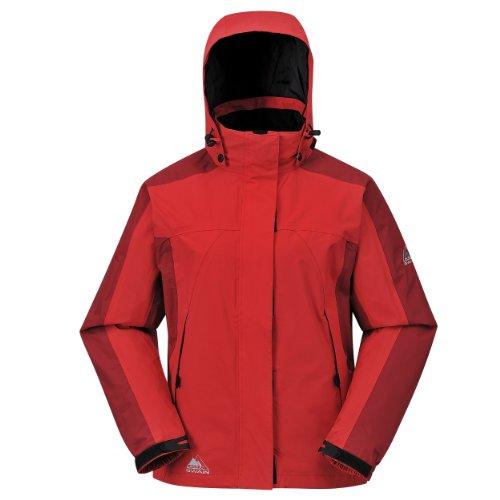 Cox Swain Damen 2-Lagen Outdoor Multifunktionsjacke Makalu div. Farben 3.000 mm Wassersäule, Colour: Red, Size: M