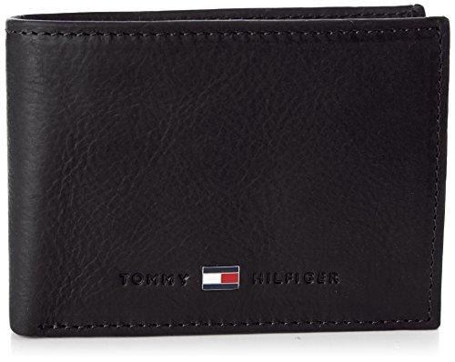 Tommy Hilfiger Herren Johnson Mini CC Flap and Coin Pocket Portemonnaie, schwarz