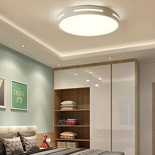 Lámpara De Techo Redonda LED Ultrafina De 5CM Luz De Techo De Control Remoto Regulable 3000K-6000K Lámpara De Hogar Sala De Estar Dormitorio Sala De Estudio,Blanco,50cm
