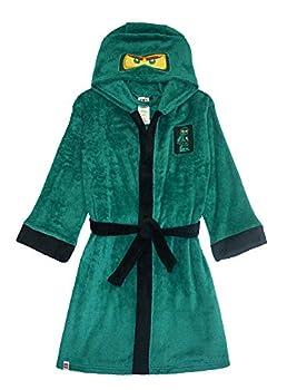 LEGO Ninjago Little/Big Boys Costume Plush Robe 6/7 Lloyd Green New 6-7