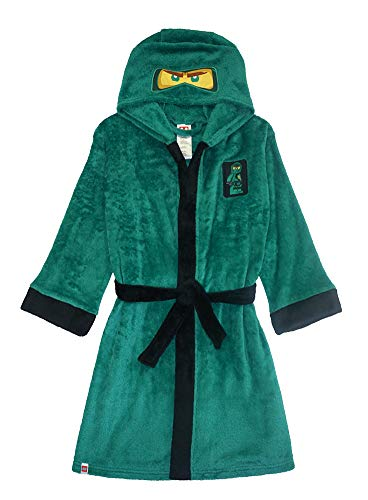 LEGO Ninjago Little/Big Boys Costume Plush Robe, 4/5, Lloyd Green New, 4-5