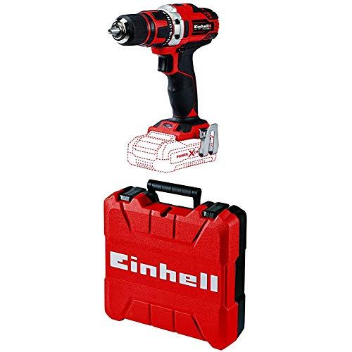 Einhell 4513925 TE-CD 18/40 Li-Solo Akku-Bohrschrauber + Koffer E-Box S35 (für universelle Aufbewahrung von Werkzeug und Zubehör, weiches Schaumstoff-Innenfutter für verkratzungsfreien Transport)