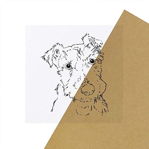 6 x 'Flauschiger Hund' Transparente Aufkleber / Stickers (SK00033958)