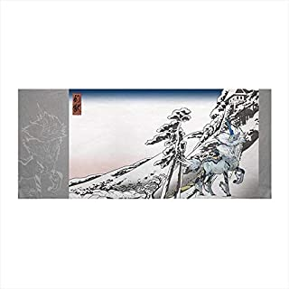 モンスターハンター キリン × 雪晴 浮世絵手ぬぐい 約H350×W800mm